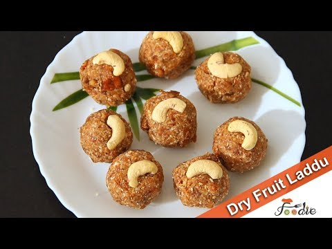Dry fruit laddu recipe |Easy sweet recipes at home|Sugar free sweets| Healthy sweets recipes |Foodie