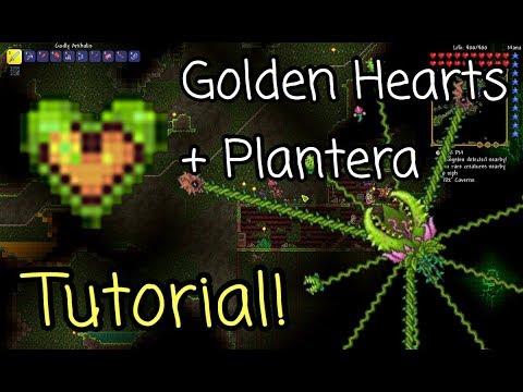 How to get GOLDEN HEARTS + SUMMON PLANTERA! -Terraria Tutorial