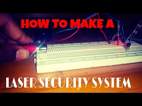 DIY | How To Make A LASER SECURITY SYSTEM | laser alarm | applications of LDR