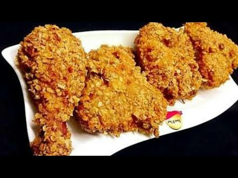 Crispy Chicken Fry - Cornflakes coated in Tamil