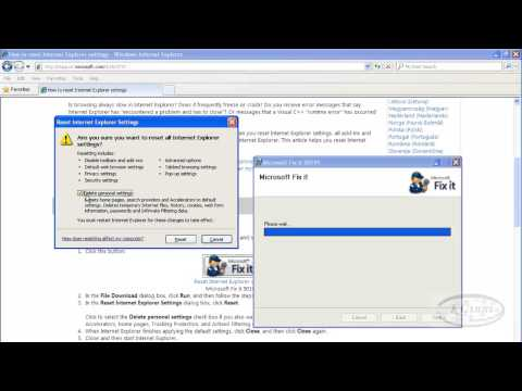 How to reset your Internet Explorer Settings