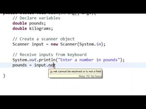 Java convert pounds to kilograms