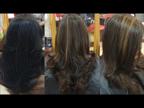 SOFT BLONDE HIGHLIGHTS ON BLACK HAIR | HAIR TRANSFORMATION | KOLKATA INDIA