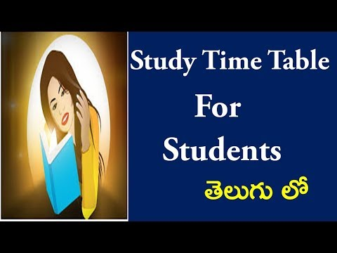 How To Make Time Table For Students   I Study Tips I Study Time Table For Student I Telugu Bharathi