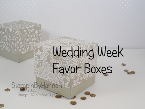 Wedding Favours using Stampin' Up! UK products