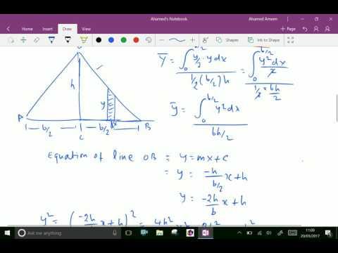 Engineering mechanics : - C.G. of triangle by integration.