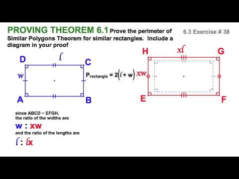 6.3 Proving Perimeter of Similar Polygons Theorem for Rectangles