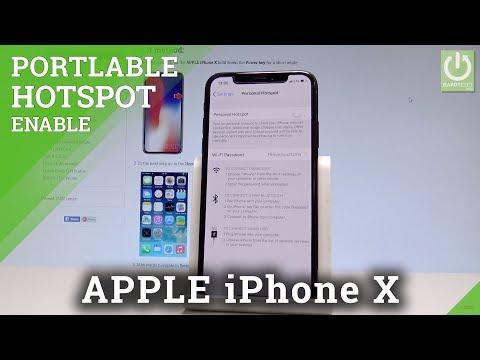 APPLE iPhone X PORTABLE HOTSPOT / Mobile Hotspot / Share Wi-Fi