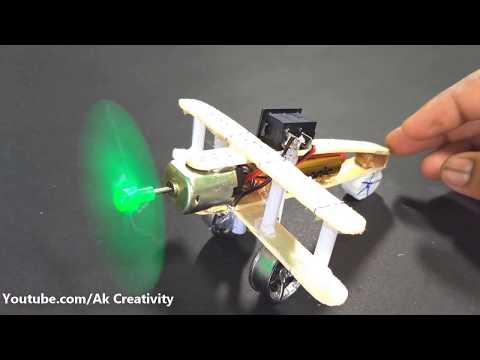 How to Make a Aeroplane With 5v DC Motor   DIY Wooden Plane