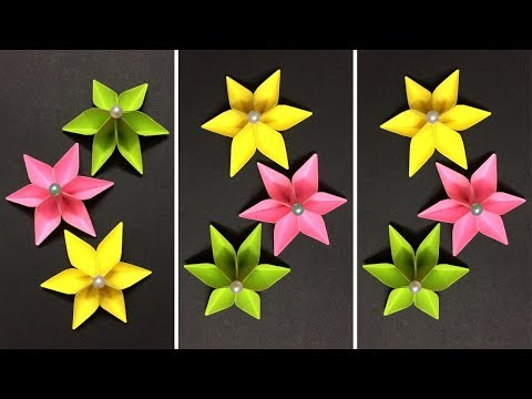 How to Make Paper Flower | Making Paper Flowers | DIY-Paper Crafts