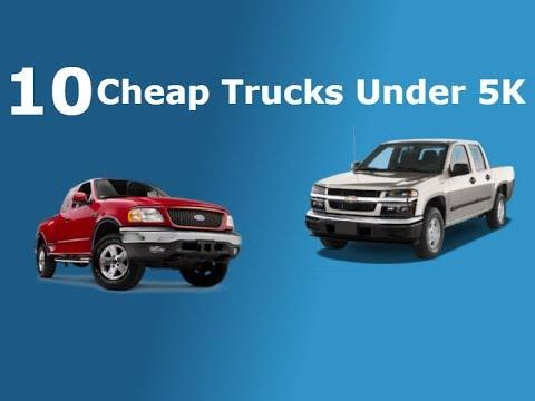 10 Cheap Trucks Under 5k!