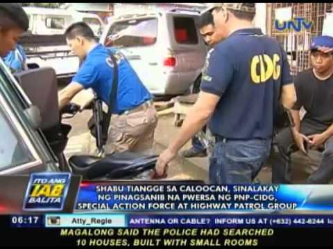Shabu tiangge sa Caloocan, sinalakay sa pinagsanib na pwersa ng PNP-CIDG, SAF, HPG