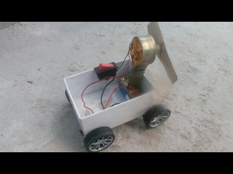 How To Make a Mini Car At Home - Very Simple  with use dc motor