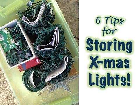 CHRISTMAS LIGHT STORAGE & ORGANIZATION
