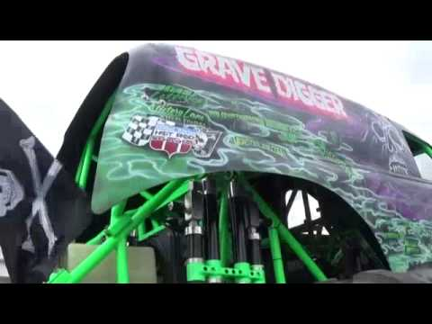 Grave Digger truck display halifax 2015