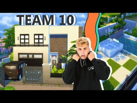 JAKE PAUL'S HOUSE IN THE SIMS | Sims 4 House Building