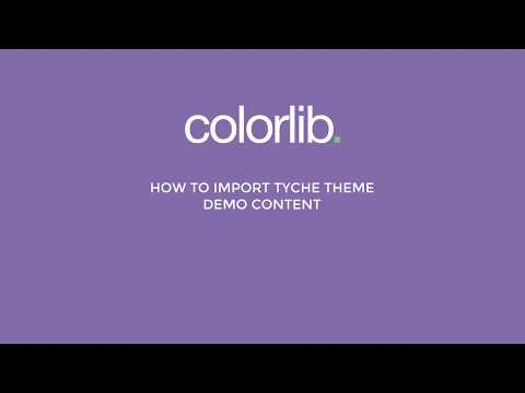 How to Import Tyche Theme Demo Content