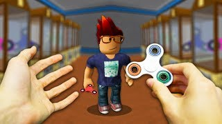 REALISTIC ROBLOX - ROBLOX PLAYER GETS A FIDGET SPINNER!⚡️