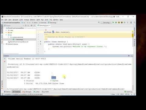 Run Java program from IntelliJ's Terminal