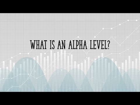 What is an Alpha Level