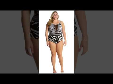6aaadf4fec La Blanca Plus Size Sevilla High Neck Plunge One Piece Swimsuit | SwimOutlet .com
