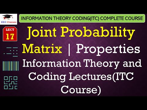 Joint Probability Matrix, Properties, Solved Numerical Example(ITC Lectures Hindi)