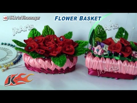 HOW TO: Make  Miniature Flower Basket of soap and Ribbon - JK Arts 531