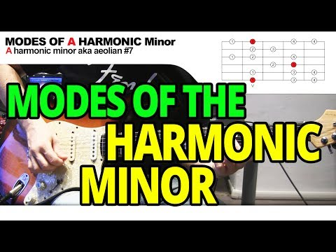 Modes of the Harmonic Minor Scale - Guitar Lesson