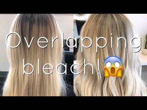 HOW TO SAFELY OVERLAP BLEACH ONTO BLONDE HAIR! | BEAUTY SCHOOL SERIES