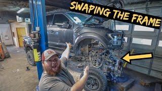 We Swap out Destroyed frame on 2019 Ford Raptor