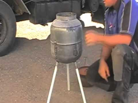 HOW TO MAKE A GAS BOTTLE BBQ - PART 2