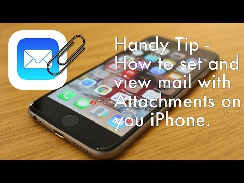 HOW TO - iPhone Mail show emails with attachments.