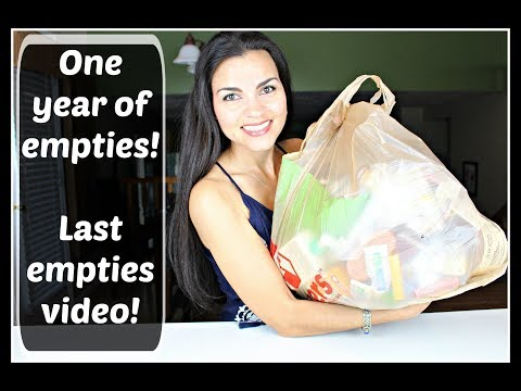 Death of Empties ~ One Year's Worth!