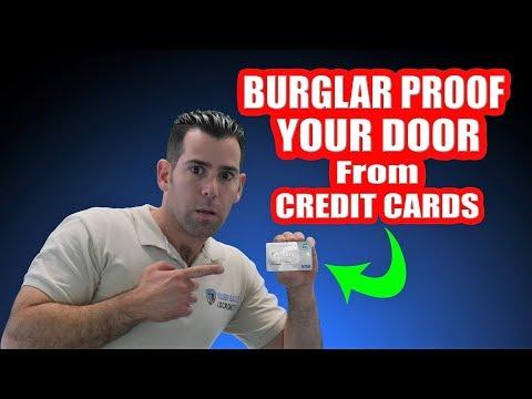 LIFE-HACK BURGLAR PROOF YOUR DOOR FROM PLASTIC CARDS