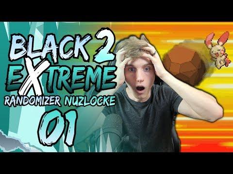 A PLUSLE KILLED ME!?!   Pokemon Black 2 EXTREME Randomizer Nuzlocke Part 1