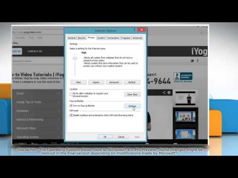 How to Manage Pop-up Blocker Settings in Internet Explorer® 11 on Windows® 8.1