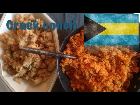 How to cook Crack Conch with Rice (The Bahamian dish)