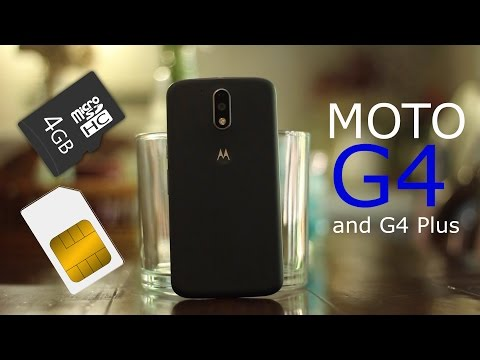How to Insert SIM/SD Card to Moto G4 / G4 Plus