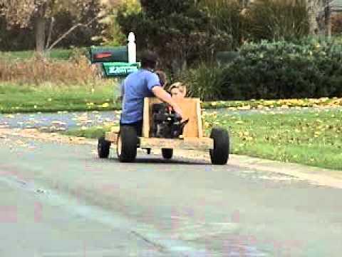 homemade wooden Go Cart