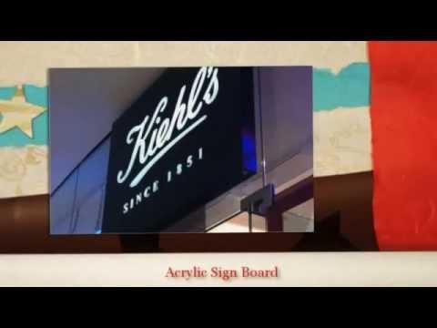 Acrylic Sign Board Making, Acrylic Signage LED in India. signagemanufacturers.com