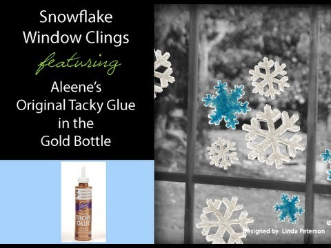 Snowflake Window Clings featuring Aleene's Original Tacky Glue