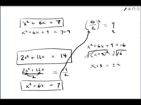 Intro to completing the square