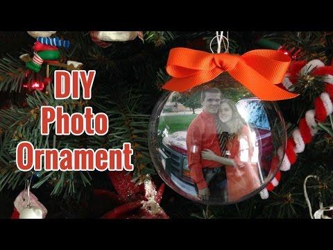 DIY PHOTO ORNAMENT | Christmas Gift | Pinterest Inspired