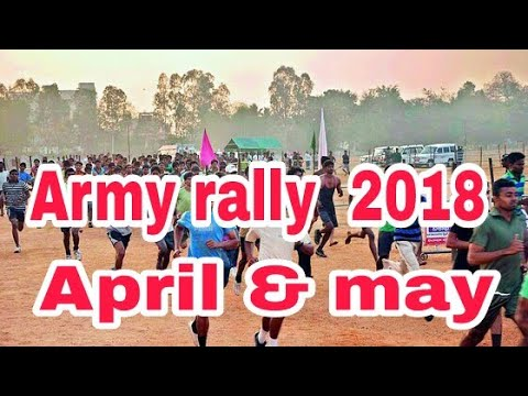 Indian army open Bharati rally April n may