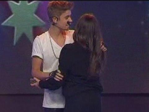 Justin Bieber: Grabbed by fan on stage in Australia
