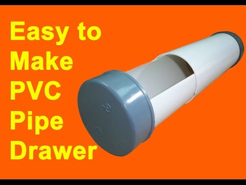 How To Make Drawer From PVC Pipe