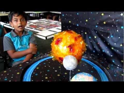 Grade Three science project Earth, Moon & Sun