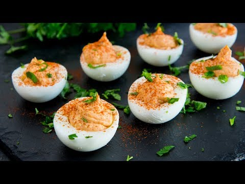 DELICIOUS Deviled Eggs Recipe with Indian inspired tasty flavours