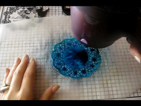 How to color your paper doily