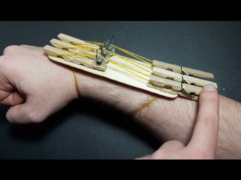 | DIY| How To Make a Popsicles and Clothespin Hand Gun That Shoots Rubber Bands-By Dr. Origami